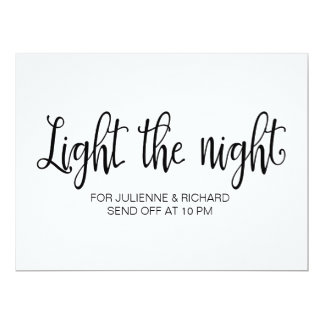 "Calligraphy | ""Light the night"" wedding sign 6.5"" X 8.75"" Invitation Card"