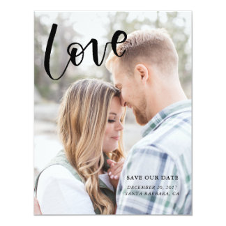 Calligraphy Love Save the Date Card