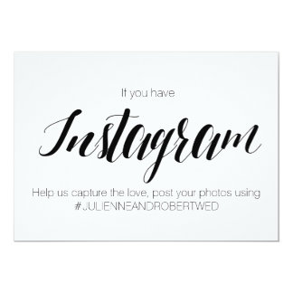 "Calligraphy Style ""Instagram Hashtag"" Wedding Sign Card"
