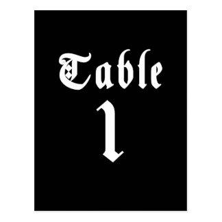 Calligraphy Table Number Postcard