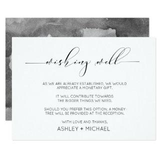 Calligraphy Typography Wedding Wishing Well Horiz. Card