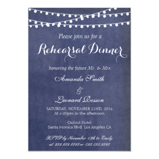 Calligraphy wedding rehearsal dinner invitations