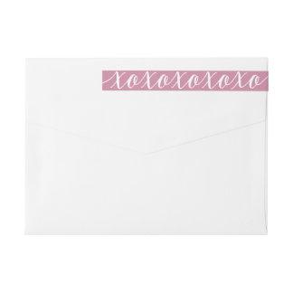 Calligraphy XOXO Elegant Valentine's Day Wrap Around Label