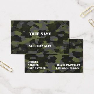 Calling card Camouflage