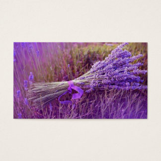 Calling cards bouquet of lavenders