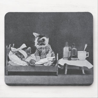 Calling Nurse Kitty Mouse Pad
