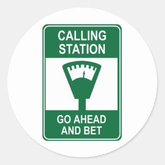 Calling Station Classic Round Sticker
