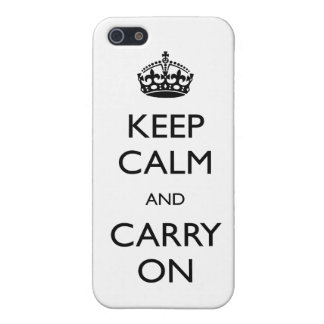 Calm and Carry On iPhone 5 Case Savvy Matte Finish