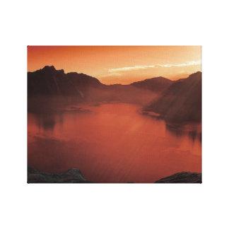 Calm at Red Lake Canvas Art