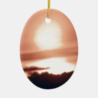 calm before storm.JPG Ceramic Oval Ornament