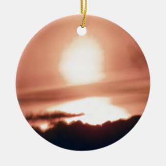 calm before storm.JPG Round Ceramic Ornament