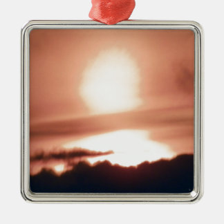 calm before storm.JPG Silver-Colored Square Ornament