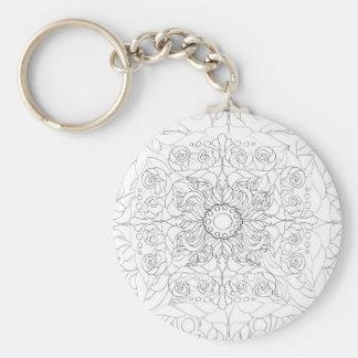 Calm Down nr 17 Basic Round Button Keychain