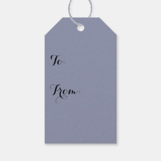 Calm Gray Solid Color Customize It Gift Tags