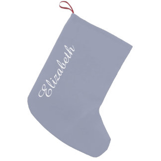 Calm Gray Solid Color Customize It Small Christmas Stocking