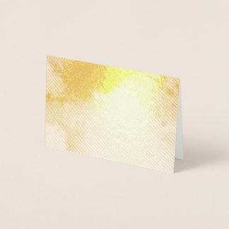 Calm happy blue yellow white abstract painting foil card