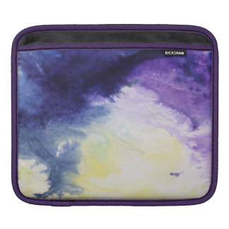 Calm happy blue yellow white abstract painting iPad sleeve