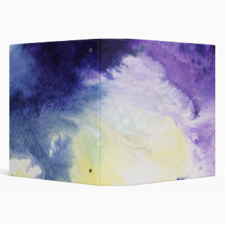 Calm happy blue yellow white abstract painting vinyl binder