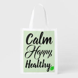 Calm Happy Healthy Reusable Bag