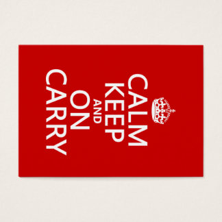 Calm Keep and On Carry - all colours Business Card