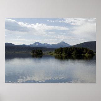 Calm Lake Dillon Colorado Poster