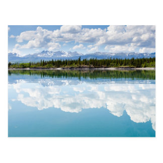 Calm Lake Laberge Postcard