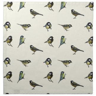 Calm Little Birdie Pattern Napkin