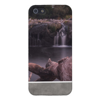 Calm Long exposure of waterfalls and tree trunk iPhone 5 Case