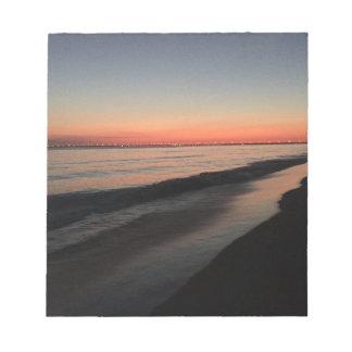 Calm morning beach sunrise notepad