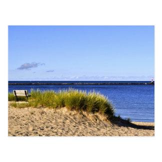 Calm Morning on Lake Michigan Postcard