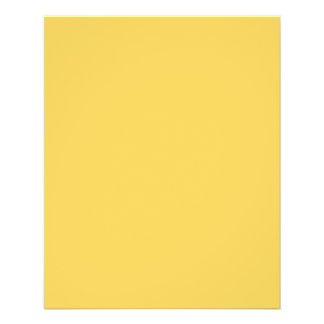 Calm Mustard Yellow Color Flyer