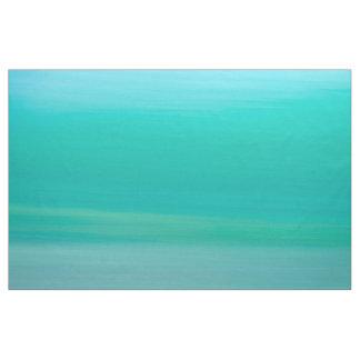 Calm ocean green blue ocean waves fabric