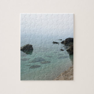 Calm ocean seascape, zen water photo jigsaw puzzle