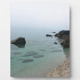 Calm ocean seascape, zen water photo plaque