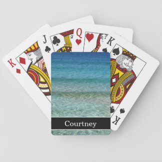 Calm Ocean Waves with Name Poker Deck