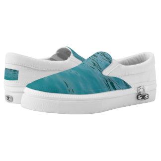 Calm Sea Custom Zipz Slip On Shoes,  Men & Women