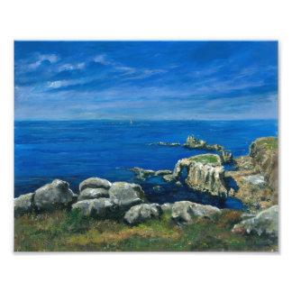 Calm sea Lands End Cornwall Photo Print