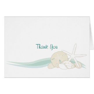 Calm Seashells Thank You Card