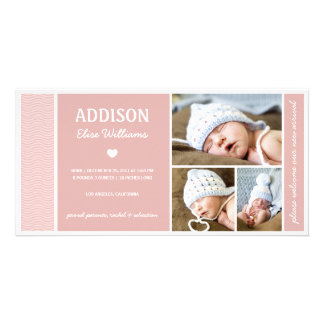 CALM WAVES | BABY GIRL BIRTH ANNOUNCEMENT CARD