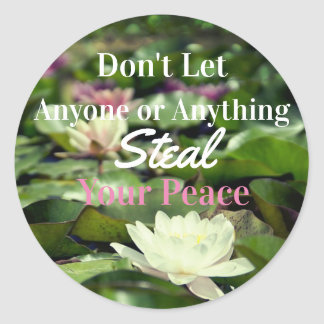 Calm Zen Water Lily Peace Inspirational Stickers