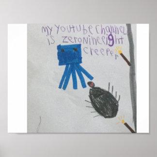 Calmar et affiche d'araignée