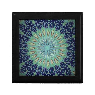 Calming Blue Green Mandala Pattern Trinket Boxes