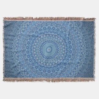 Calming Blue Mandala Throw Blanket