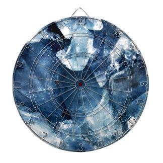 Calming Blue Mineral Crystal Stone Dart Board