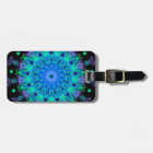 Calming Water Mandala Design Luggage Tag