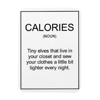 Calories definition magnet for your kitchen