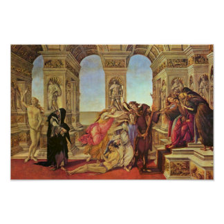 Calumny Of Apelles By Botticelli Sandro Poster