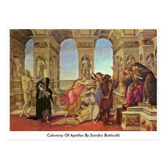 Calumny Of Apelles By Sandro Botticelli Postcard