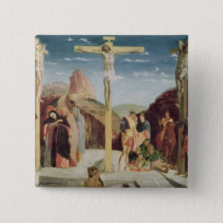 Calvary, after a painting by Andrea Mantegna 2 Inch Square Button