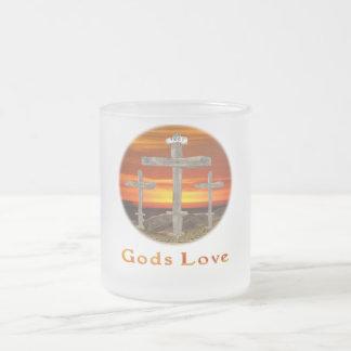 Calvary christian gifts 10 oz frosted glass coffee mug
